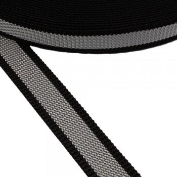 Ιμάντας ζώνης Μαύρο - Γκρι 30mm