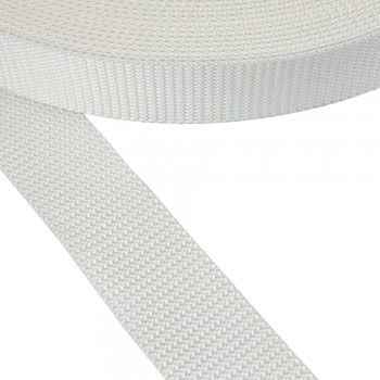 Ιμάντας ζώνης λευκός 40mm