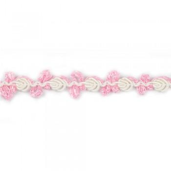 Τρέσα ρεγιόν τριανταφυλλάκι ροζ 13mm