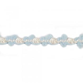Τρέσα ρεγιόν τριανταφυλλάκι γαλάζια 13mm