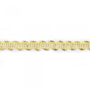 Τρέσα μεταλιζέ χρυσή 10mm