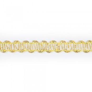 Τρέσα μεταλιζέ χρυσή 12mm