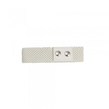 Τσόκερ λαιμού από άσπρη δερματίνη 40mm