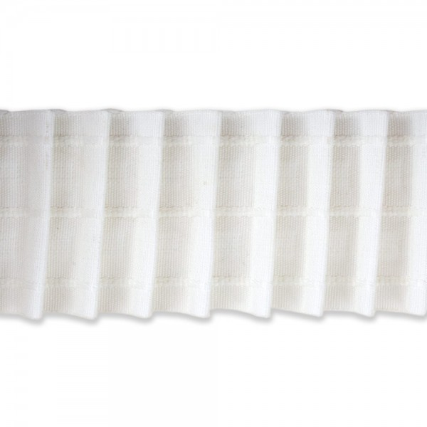 Κουρτινοθηλιά με συνεχόμενη πιέτα λευκή 70mm