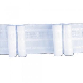 Κουρτινοθηλιά με δύο πιέτες λευκή 50mm