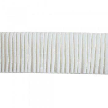 Κουρτινοθηλιά με συνεχόμενη πιέτα λευκή 55mm