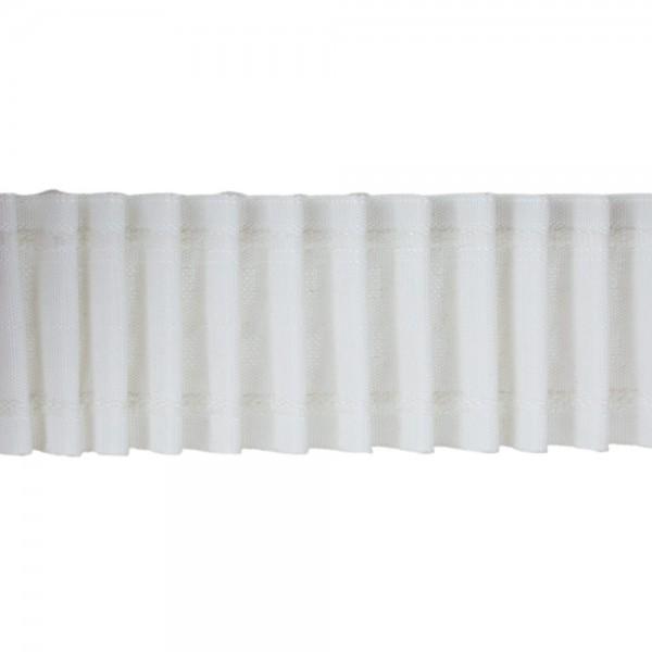 Κουρτινοθηλιά με συνεχόμενη πιέτα λευκή 65mm