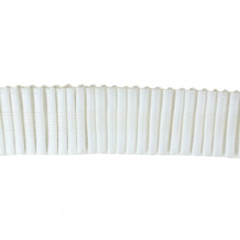 Κουρτινοθηλιά με συνεχόμενη πιέτα λευκή 40mm