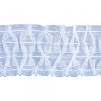 Κουρτινοθηλιά με σχέδιο σφιγγοφωλιά διάφανη 100mm