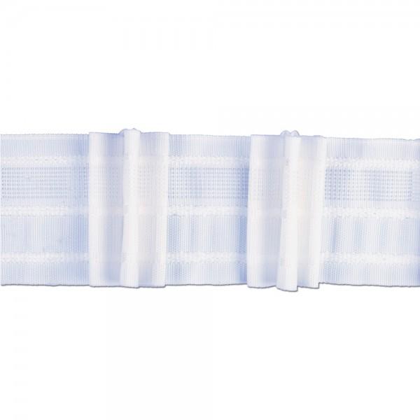 Κουρτινοθηλιά με τρεις πιέτες λευκή 100mm