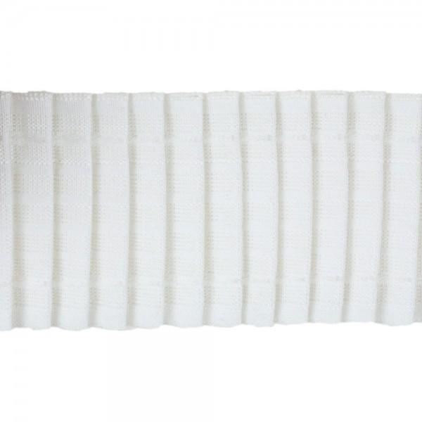 Κουρτινοθηλιά με συνεχόμενη πιέτα λευκή 80mm