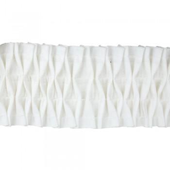 Κουρτινοθηλιά με σχέδιο σφιγγοφωλιά λευκή 100mm