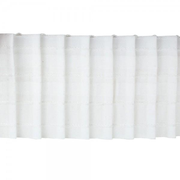Κουρτινοθηλιά με συνεχόμενη πιέτα λευκή 100mm