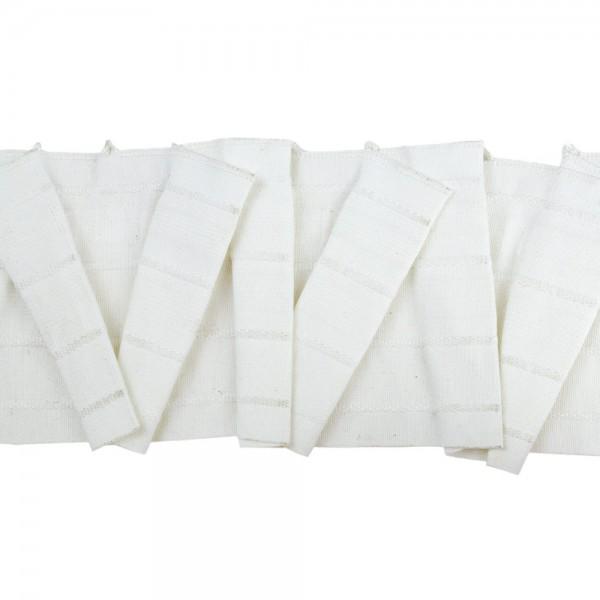 Κουρτινοθηλιά με σχέδιο διαγωνάλ λευκή 100mm