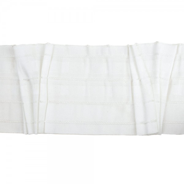 Κουρτινοθηλιά με σχέδιο ποτηράκι λευκή 100mm