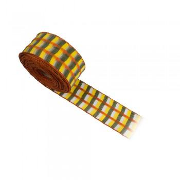 Κορδέλα συσκευασίας κίτρινη, λαδί, πορτοκαλί 40mm