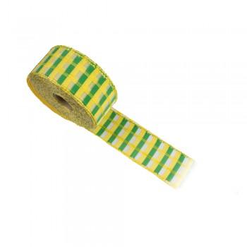 Κορδέλα συσκευασίας κίτρινη, πράσινη 40mm