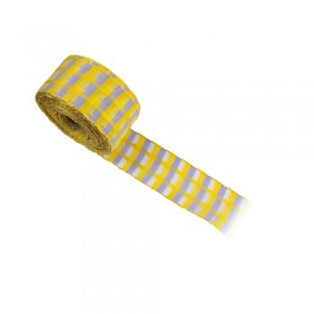 Κορδέλα συσκευασίας κίτρινη, μωβλιλά ανοιχτό 40mm