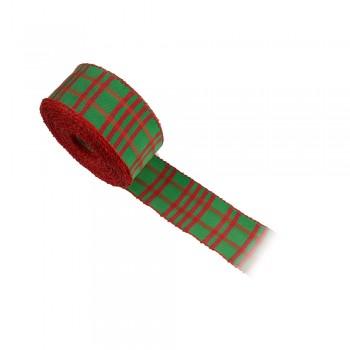 Κορδέλα συσκευασίας πράσινη, κόκκινη 40mm