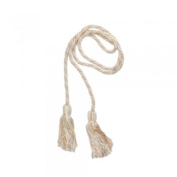 Κορδόνι μεγάλο με φούντα εκρού - λευκό 10mm