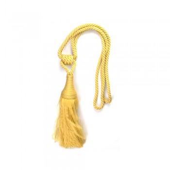Κορδόνι με φούντα αμπραζ κίτρινο χρυσαφί