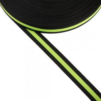 Φακαρόλα μαύρη-λαχανί συνθετική 20mm με ρίγα