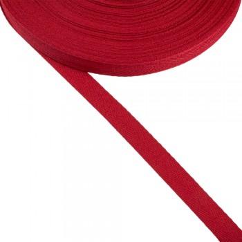 Φακαρόλα κόκκινη βαμβακερή 15mm