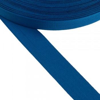 Κορδέλα γκρο μπλε θαλασσί 25mm