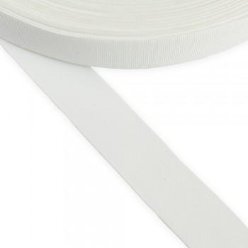 Κορδέλα γκρο λευκή 25mm