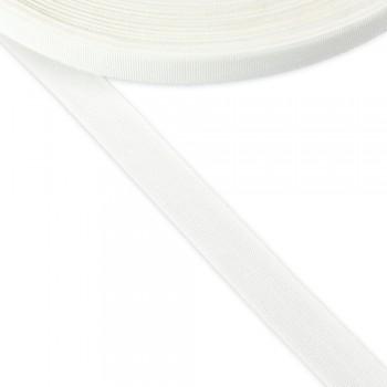 Κορδέλα γκρο λευκή 15mm
