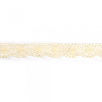 Δαντέλα βαμβακερή μπεζ 30mm