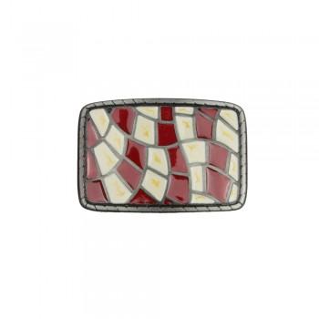 Αγκράφα κόκκινο - άσπρο 40mm