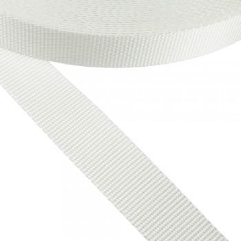 Ιμάντας συνθετικός λευκός 25mm