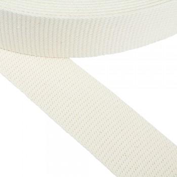 Ιμάντας ζώνης βαμβακερός λευκός 57mm