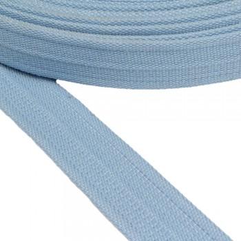 Ιμάντας ζώνης βαμβακερός γαλάζιος  40mm