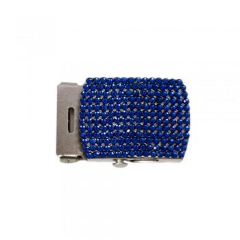 Μεταλλική αγκράφα Νίκελ/Μπλε 30mm