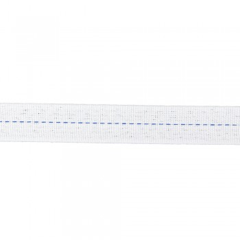 Ρέλι Ηλεκτρολόγου 20mm Λευκό με μπλε ρίγα