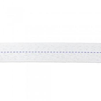 Ρέλι Ηλεκτρολόγου 25mm Λευκό με μπλε ρίγα