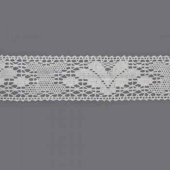 Δαντέλα 65mm Λευκή