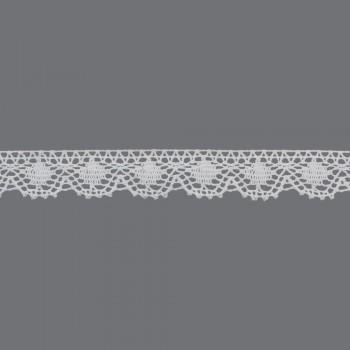 Δαντέλα 30mm λευκή