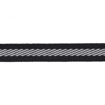 Φακαρόλα 10mm Μαύρη με άσπρη ρίγα
