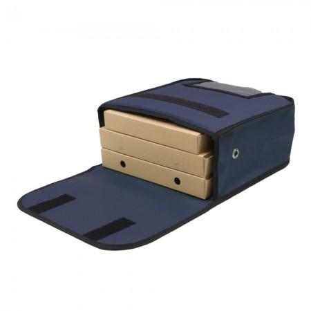 Ισοθερμική Τσάντα Θερμόσακος Delivery για μεταφορά Πίτσας χωράνε 3 μεσαίες σε μπλε χρώμα