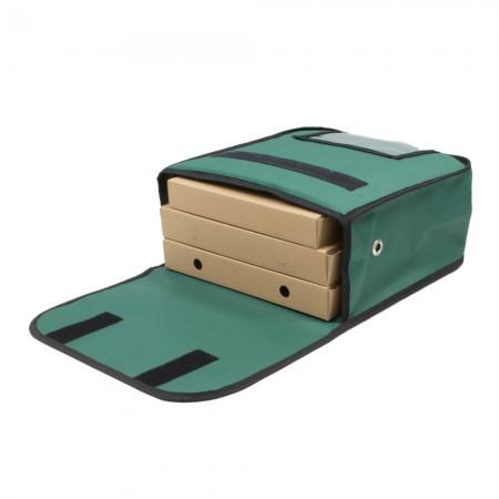 Ισοθερμική τσάντα Θερμόσακος Delivery για Μεταφορά 3 μεσαίες πίτσες σε πράσινο χρώμα