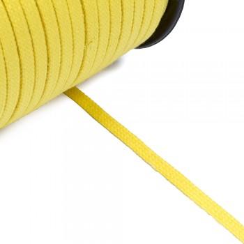 Κορδόνι πλακέ κίτρινο 5mm
