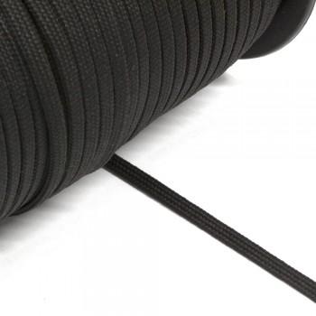 Κορδόνι πλακέ μαύρο 5mm