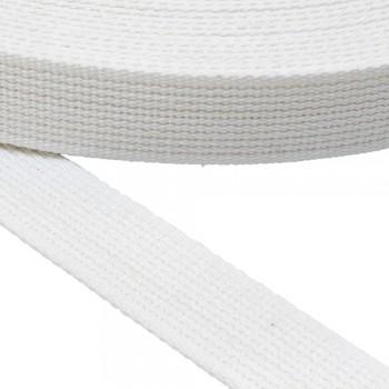 Ιμάντας  Ζώνης Βαμβακερός 30mm Λευκός