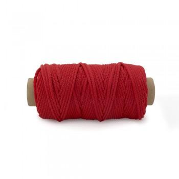 Κορδόνι μούλτι συνθετικό κόκκινο 3mm