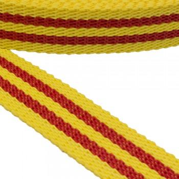 Ιμάντας ζώνης 30mm Κίτρινο με Κόκκινη ρίγα