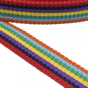 Ιμάντας ζώνης  30mm σε Πολυχρωμία Κόκκινο - Μαύρο - Μωβ - Κίτρινο - Πράσινο - Σιέλ - Πορτοκαλί