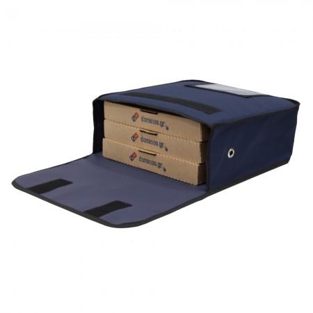 Ισοθερμική τσάντα Θερμόσακος Delivery Μεταφοράς πίτσας για 3 μεγάλες σε μπλε χρώμα